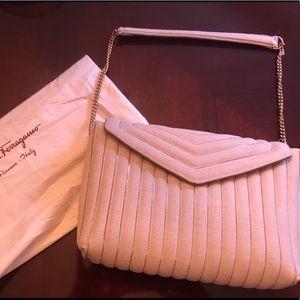 Salvatore Ferragamo Ivory Handbag NWT